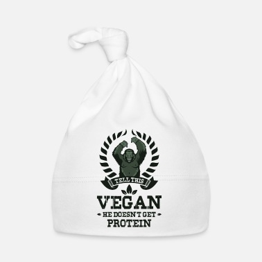 Gorilla TELL THIS VEGAN HE DOESN`T GET PROTEIN gym - Bonnet Bébé