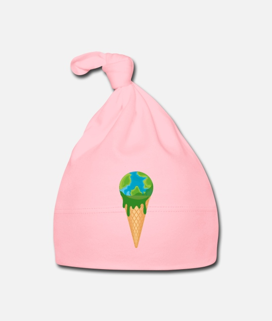 Super-gau Cappellini neonato - Not Tasty - Melting Earth come Ice Demo Shirt - Cappellino neonato rosa chiaro