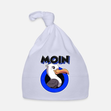 Schnack Moin Funny Seagull Platt Baltic Sea Hanse Greeting North Sea - Baby Cap