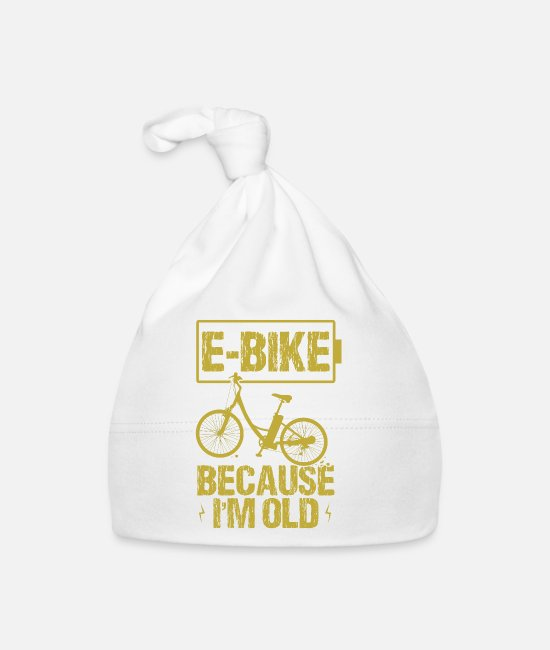Wheel Baby Caps - Bike Bike Ebike Gift Mountain Bike Wheel - Baby Cap white
