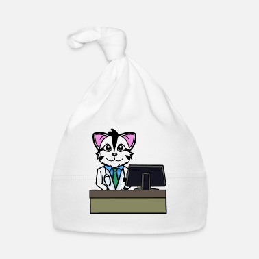 Workspace Cat pharmacist pharmacist professions workspace - Baby Cap