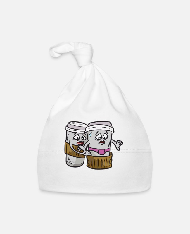 Coffee To Go Baby Caps - Naughty coffee saying underwear coffee-to-go - Baby Cap white