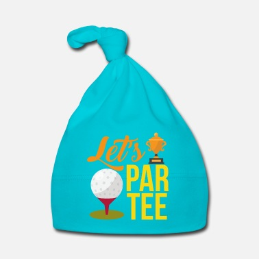 Illustratie Golf Trophy en een golfbal - Funny Golf - Baby muts