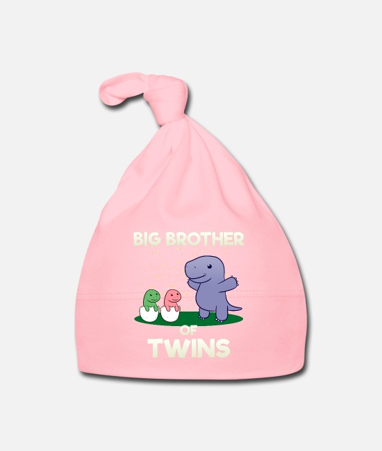 Brotherasurus Baby Caps - Siblings brother Brothersaurus I gift - Baby Cap light pink
