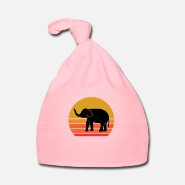 Pet Retro Sun Elephant Animal Gift Idea - Baby Cap
