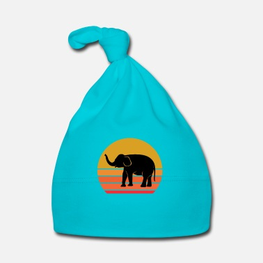 Wilderness Retro Sun Elephant Animal Gift Idea - Baby Cap