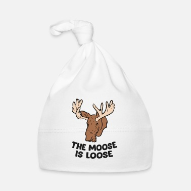 Kanada The Moose Is Loose Cute Moose Lovers Polowanie na łoś - Czapka niemowlęca