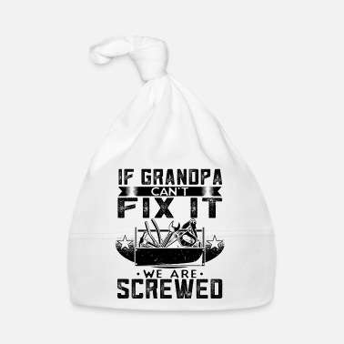 Repairman Grandpa grandfather repairman repairman - Baby Cap