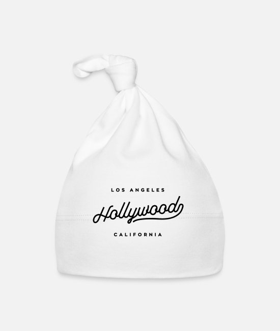 Californië Baby mutsjes - Hollywood - Los Angeles, Californië - Baby muts wit