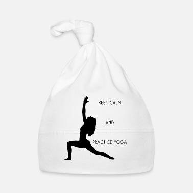 Spirituale keep calm and practice yoga - Cappellino neonato