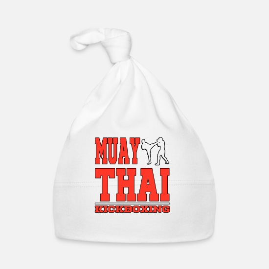 Muay Thai Baby Clothes - Muay Thai Kickboxing kickboxing women men children - Baby Cap white