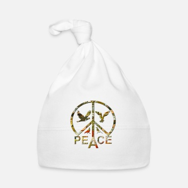 Global Peace Peace Sign and Doves of Peace - Baby Cap