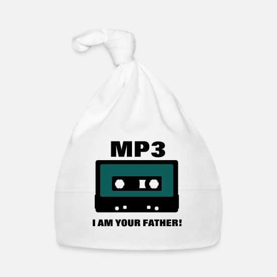 Your Babykleidung - mp3 I am your father PrintShirt at - Babymütze Weiß