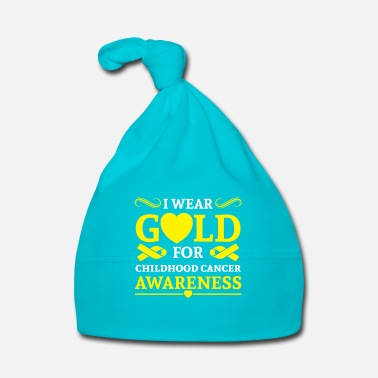 Wear I wear Gold for childhood cancer awareness Puserot - Vauvan myssy