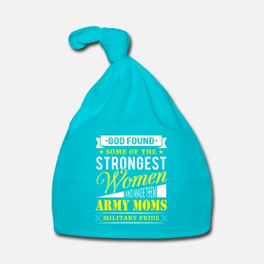 Pride Strongest Woman Army Moms Military Pride - Bonnet Bébé