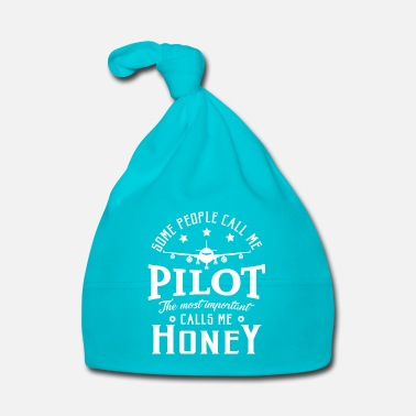 Navy People call me pilot most important call me honey - Bonnet Bébé