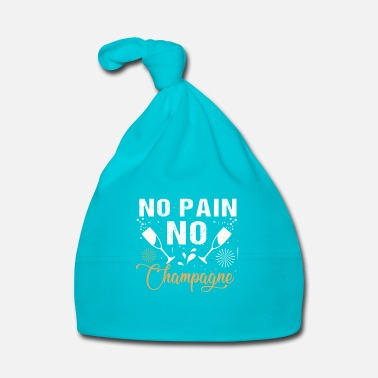 No Pain No Gain No Pain No Champagne - fun drinking party gift  - Cappellino neonato