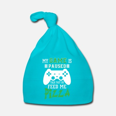 Online My game is paused feed me pizza - Gorro bebé