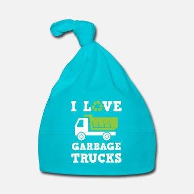 Fan I love Garbage Trucks - fan recycle - Gorro bebé