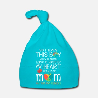 Pièce This boy piece of my heart - Autism Awareness  - Bonnet Bébé