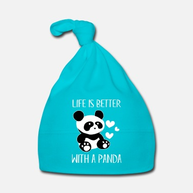 Animale Life is better with a Panda - fun animal - Cappellino neonato