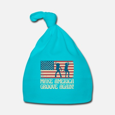 Hippie Make America groove again - USA dancing flag - Cappellino neonato