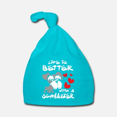 Rap Life is better with a Schnauzer - fun animal - Gorro bebé