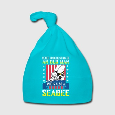 Never underestimate an old man seabee navy veteran - Baby Cap