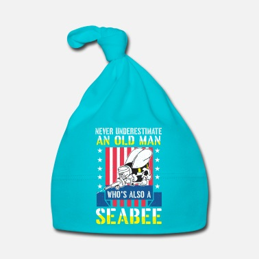 Set Never underestimate an old man seabee navy veteran - Muts voor baby's