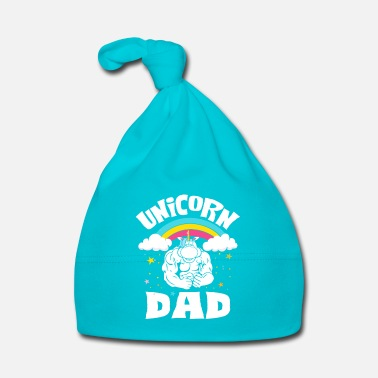 Pony Unicorn Dad - rainbow father horse power - Gorro bebé