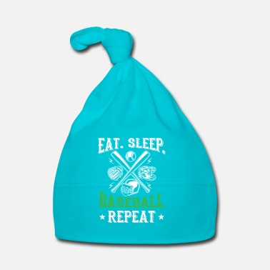 Softball Eat. sleep. baseball repeat - cool sport design - Bonnet Bébé