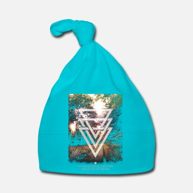 Foresta mystic forest triangles - Cappellino neonato