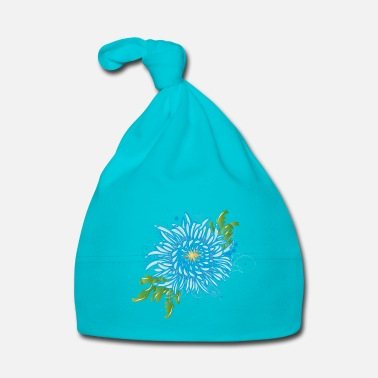 Bloom Blue chrysanthemum - Baby Cap