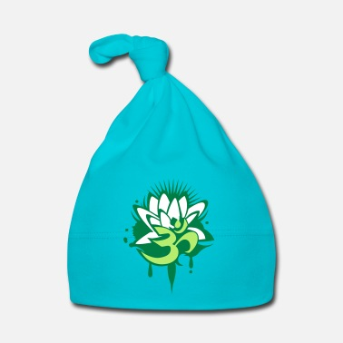 Om A lotus flower with Om symbol - Baby Cap