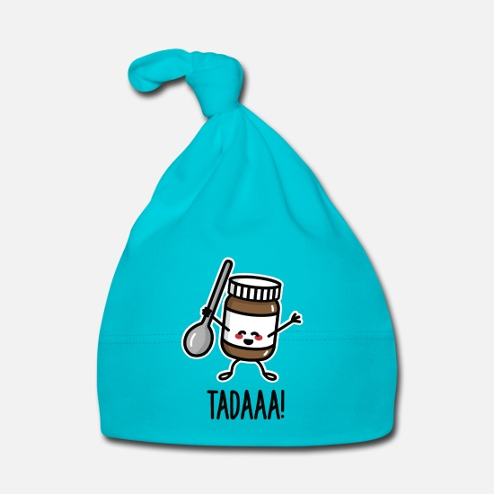 Calorieën  Babykleding - Tadaaa! Happy chocolate spread with spoon - Baby muts turquoise