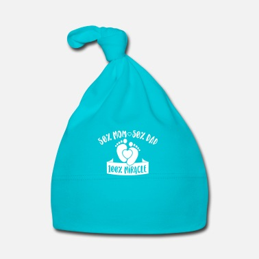 Fortuna 50% Mom 50% Dad 100% Miracle - Cappellino neonato
