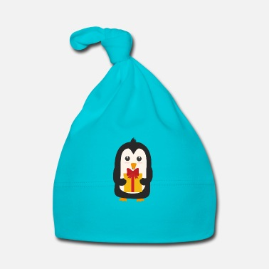 Surprise Pingouin avec Presentbox - Bonnet Bébé