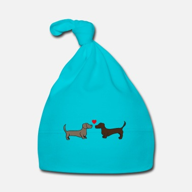 Dachshund two kissing dachshunds, gift idea, poster - Baby Cap