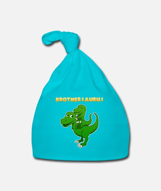 Brotherasurus Baby Caps - Siblings brother Brothersaurus I gift - Baby Cap turquois