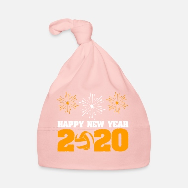 Luminoso La pallavolo porta Happy New Year 2020 - Cappellino neonato