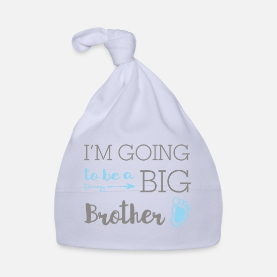 Brother Baby Clothes - I'm going to be a big brother - big brother - Baby Cap sky