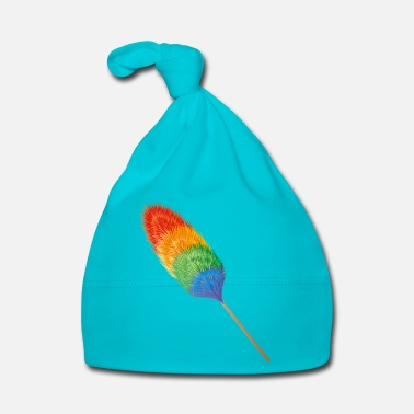 Cleaner Feather duster in brightly colored rainbow colors - Baby Cap