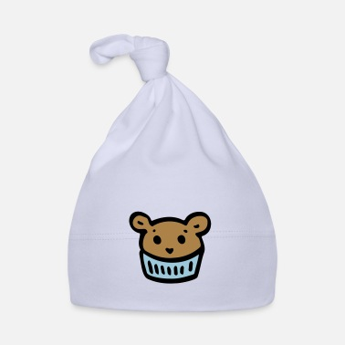 Vector Muffin Kawaii Design - Gift & Dog - Baby Cap