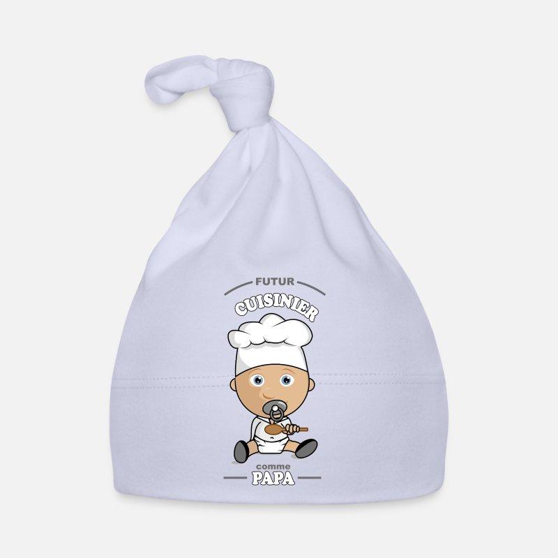 743ad1bcf237 Cadeau Vêtements Bébé - futur cuisinier comme papa - Bonnet Bébé ciel
