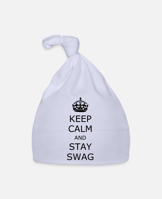 Keep Calm Baby Caps - Keep calm and stay swag - Baby Cap sky