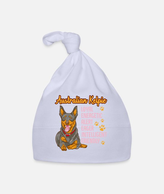 Australian Kelpie Joke Baby Caps - Cute Australian Kelpie Loyal & Friendly Dog - Baby Cap sky