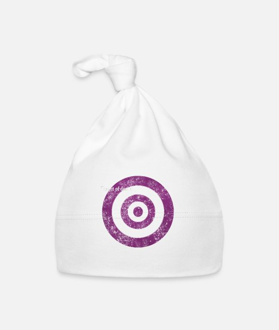 Graphic Art Baby Caps - target_of_desire_violet - Baby Cap white