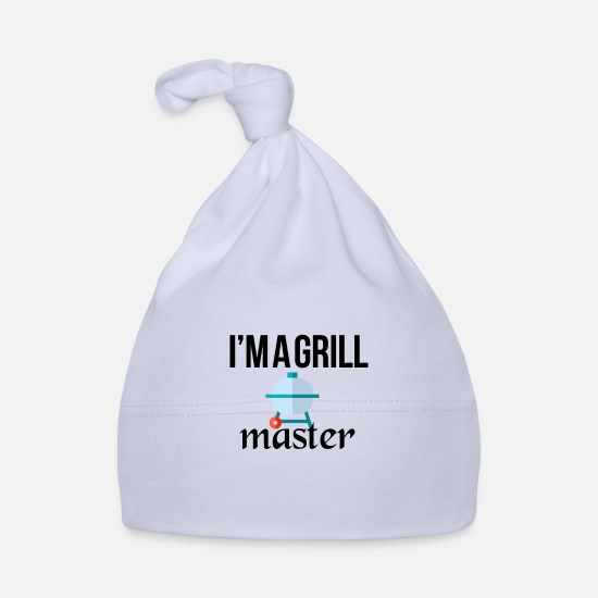 Bbq Baby Clothes - The grillmaster - Baby Cap sky