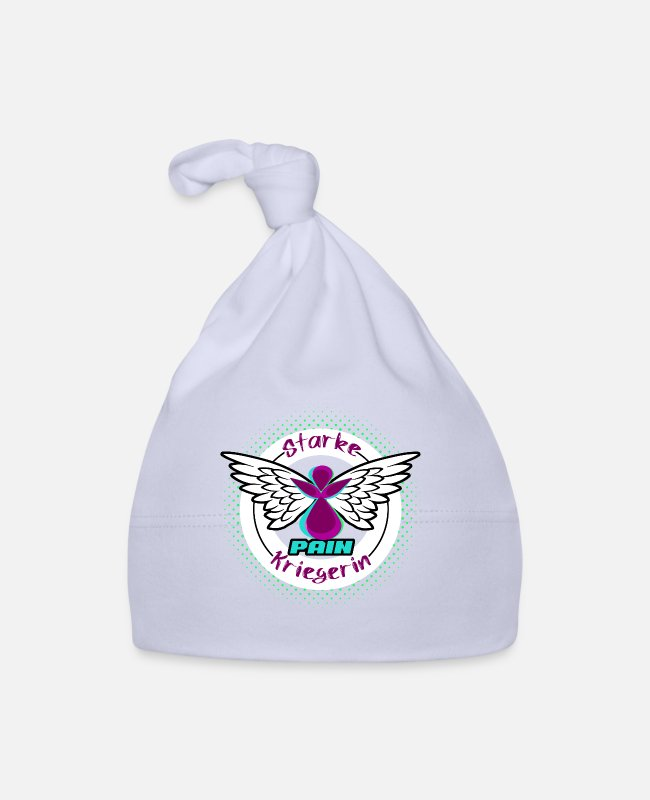 Heart Baby Caps - Lipedema Kriegeri Lymphedema angel woman bow - Baby Cap sky