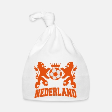 nederland twee leeuwen voetbal en kroon 2c - Baby Cap